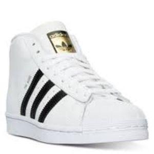 Adidas Pro Model J White Black Mid Shoes